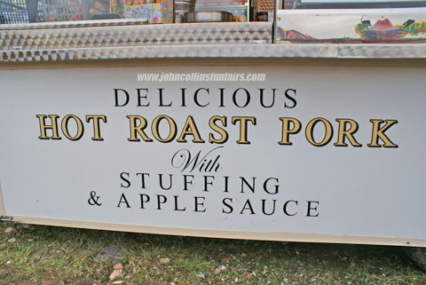 Hot Roast Pork with Apple Sauce & Stuffing,image