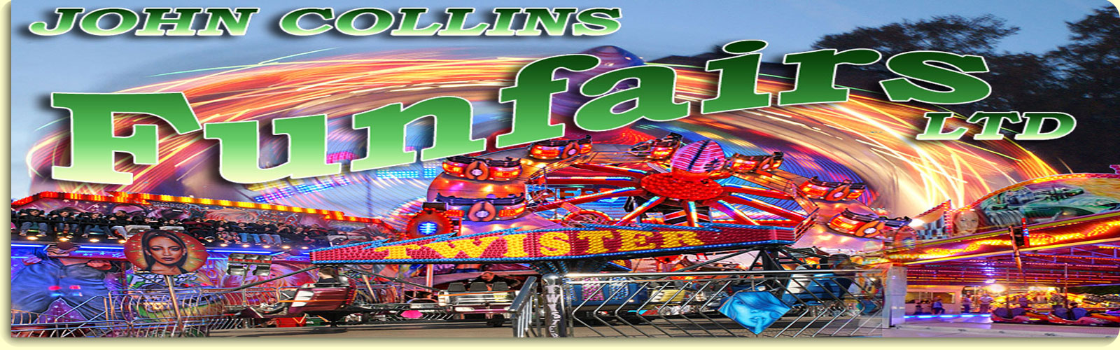 John Collins Funfairs ltd, funfair hire specialist, header image