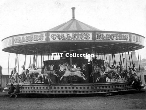 John Collins' 3-abreast Gallopers, Harpurhey, Manchester, August 1939	FHT Collection,image