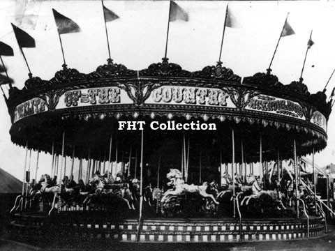 John Collins' 4–abreast Gallopers, Lower Broughton Road, Salford, May 1914 FHT Collection,image