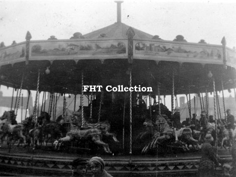 John Collins' 3-abreast Gallopers,	Leek May 1933, FHT Collection,image