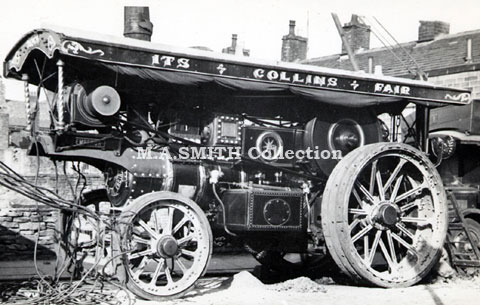 "M A Collins' Burrell Showman's Engine Lees, nr Oldham	August 1940	M A Smith Collection 3291 ""Emperor"",image"