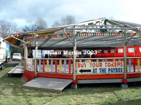 John Collins Dodgems, building up at Hyde, March 2003,image